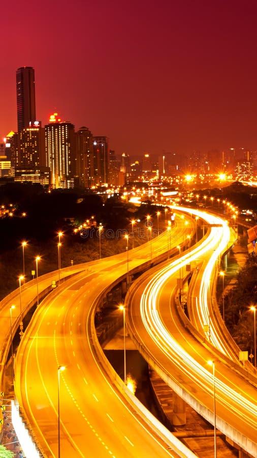 Scène de nuit de Kuala Lumpur photos stock