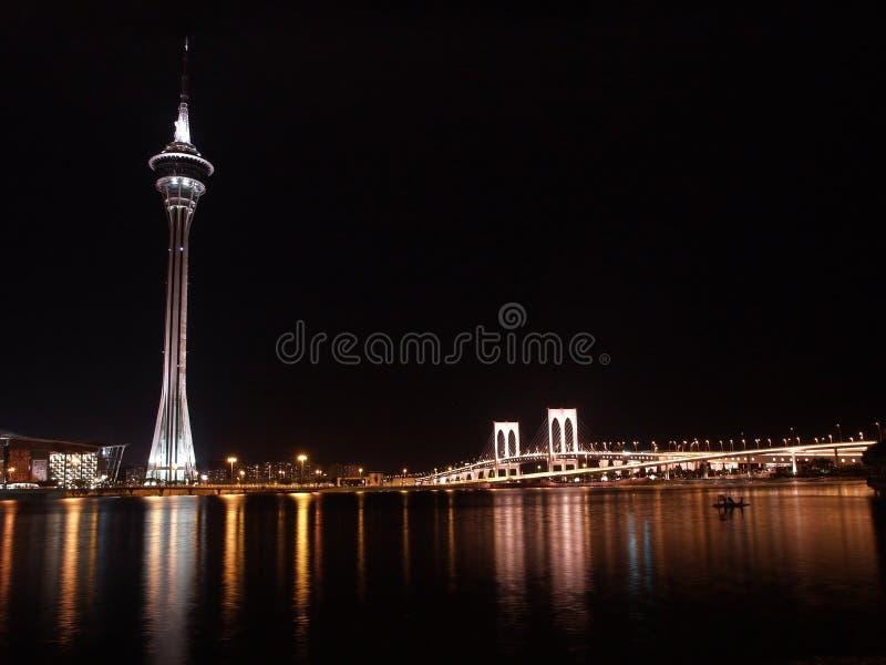 Scène de nuit de Macao photo libre de droits