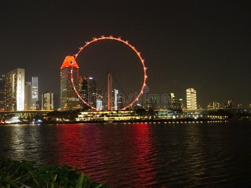 Scène de nuit de l'insecte de Singapour chez Marina Bay photos libres de droits
