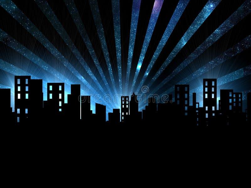 Scène de nuit, vue de nuit de ville