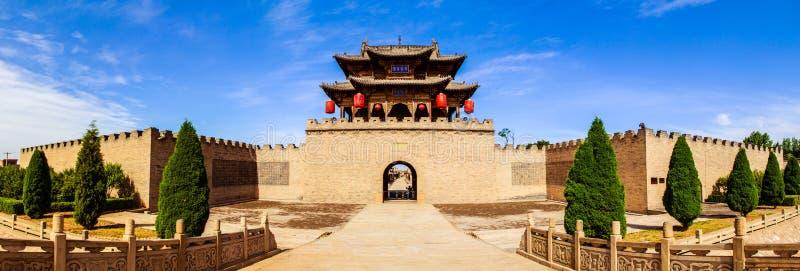 Scène de parc du manoir de Chang. Bâtiment de voie de base de manoir. images libres de droits
