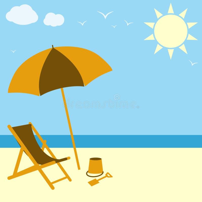 Scène de plage illustration libre de droits