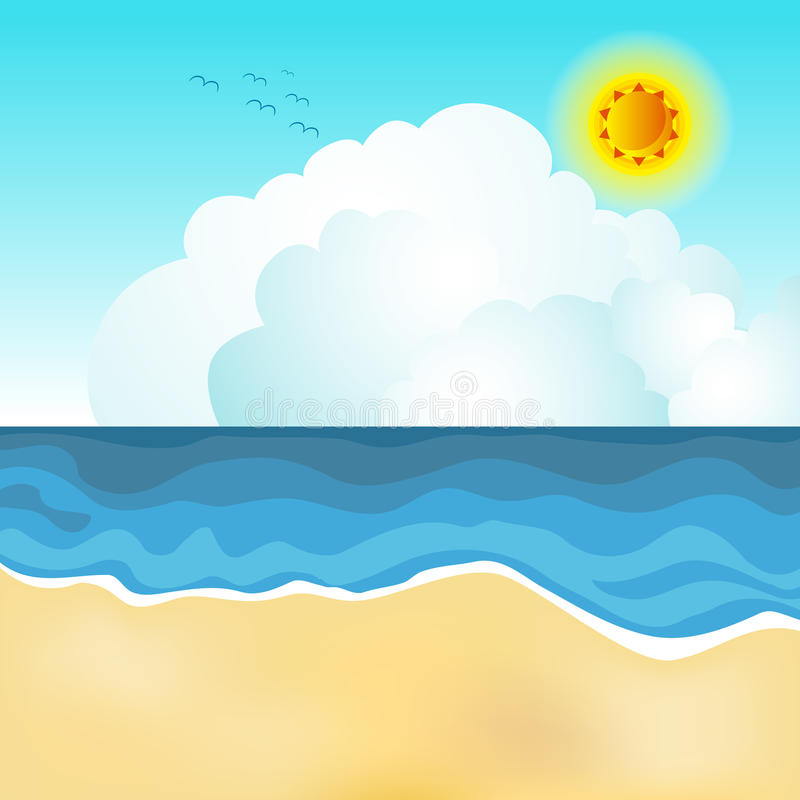 Scène de plage illustration stock