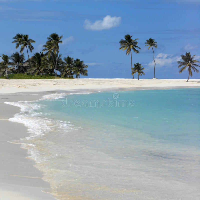 Scène de plage des Bahamas image libre de droits