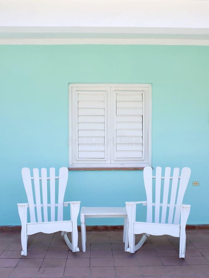 Scène de porche, Vinales, Cuba photo stock