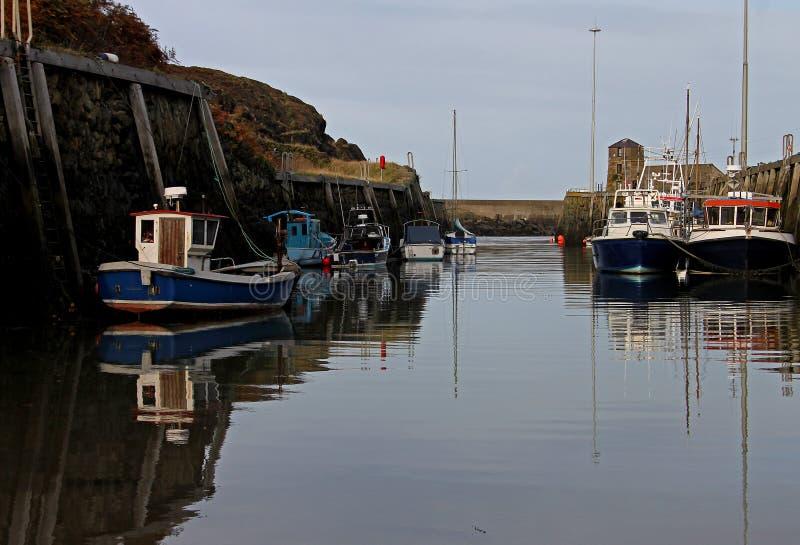 Scène de port, Amlwch, Anglesey photographie stock