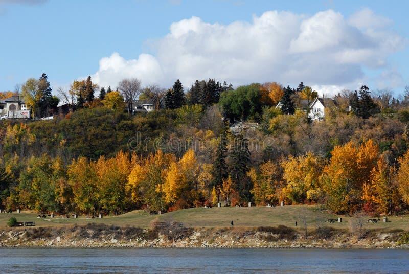 Scène de rive à Edmonton image libre de droits