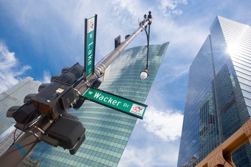 Scène de rue de Chicago image stock