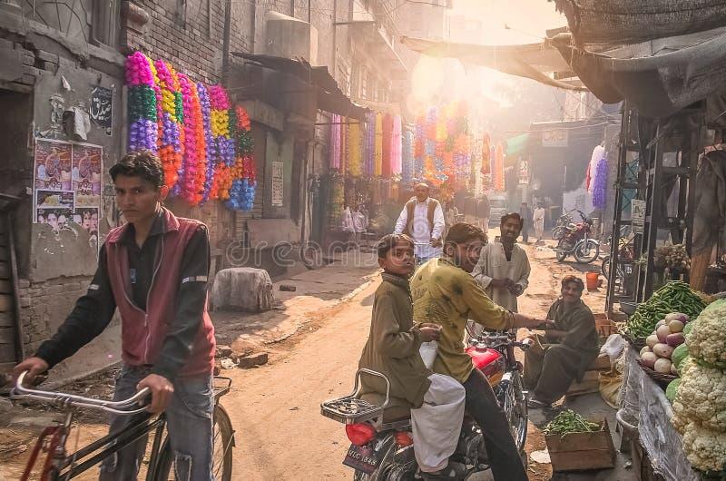 Scène de rue de Lahore photographie stock