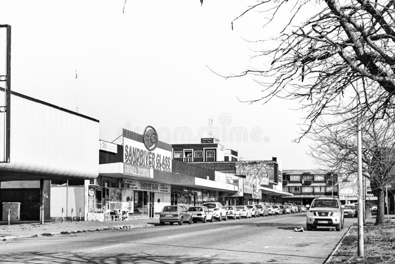 Scène de rue en Virginie dans l'état gratuit monochrome images stock