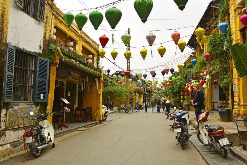 Scène de rue de Hoi An images stock