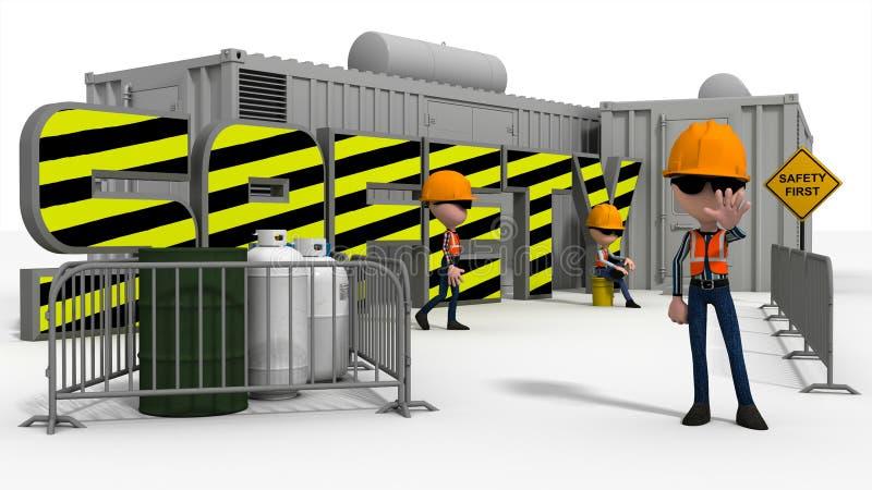 Scène de sécurité dans la construction illustration de vecteur
