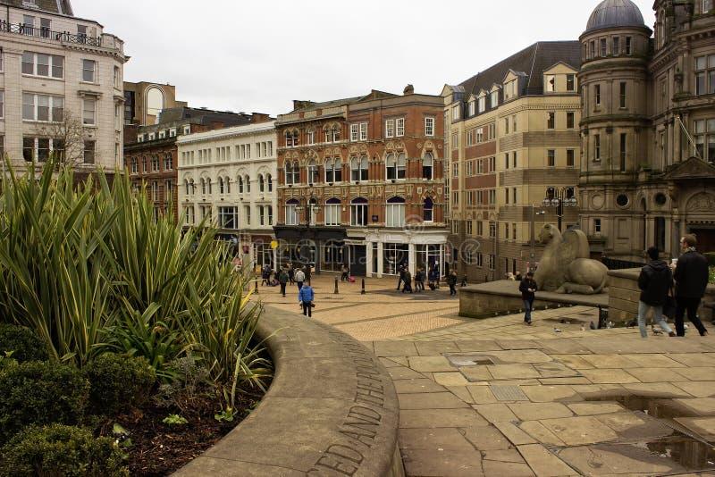 Scène in de stadscentrum van Birmingham stock afbeelding