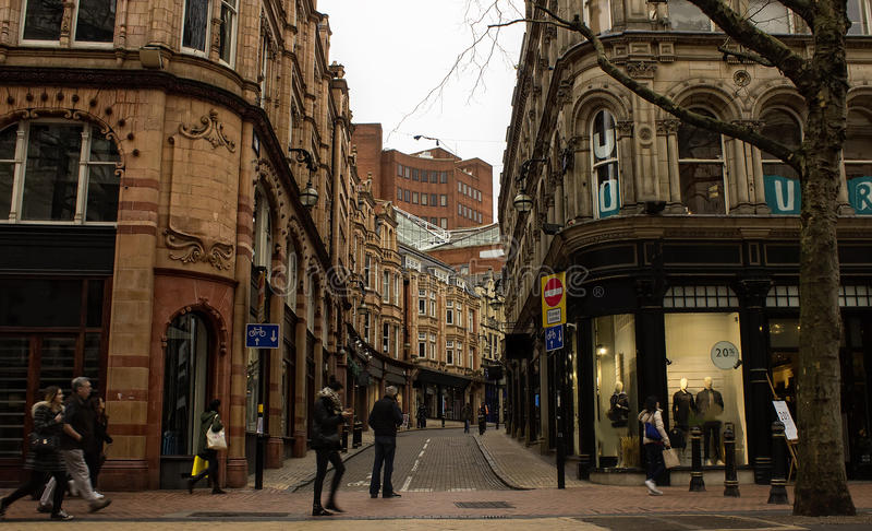 Scène in de stadscentrum van Birmingham royalty-vrije stock fotografie