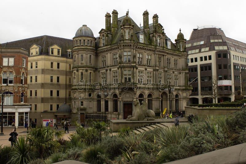 Scène in de stadscentrum van Birmingham stock foto's