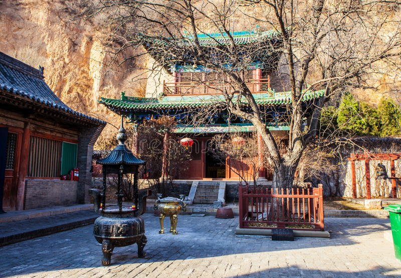 Scène de temple de Jingyin images libres de droits
