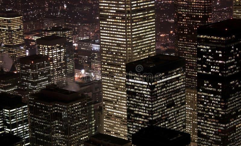 Scène de van de binnenstad van de Nacht van Toronto stock foto