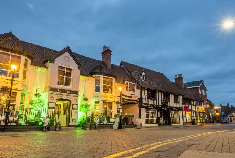 Scène de ville de Stratford sous le ciel crépusculaire images stock