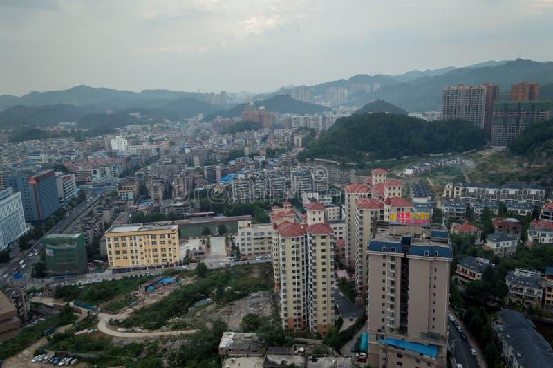 Scène de ville de Villege de Guiyang, porcelaine 7 photographie stock libre de droits
