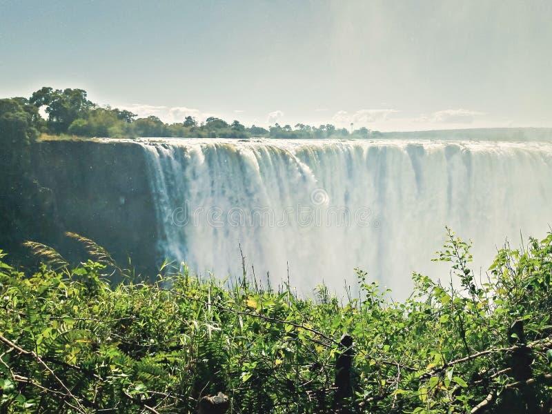 Scène des chutes d'eau Victoria image stock