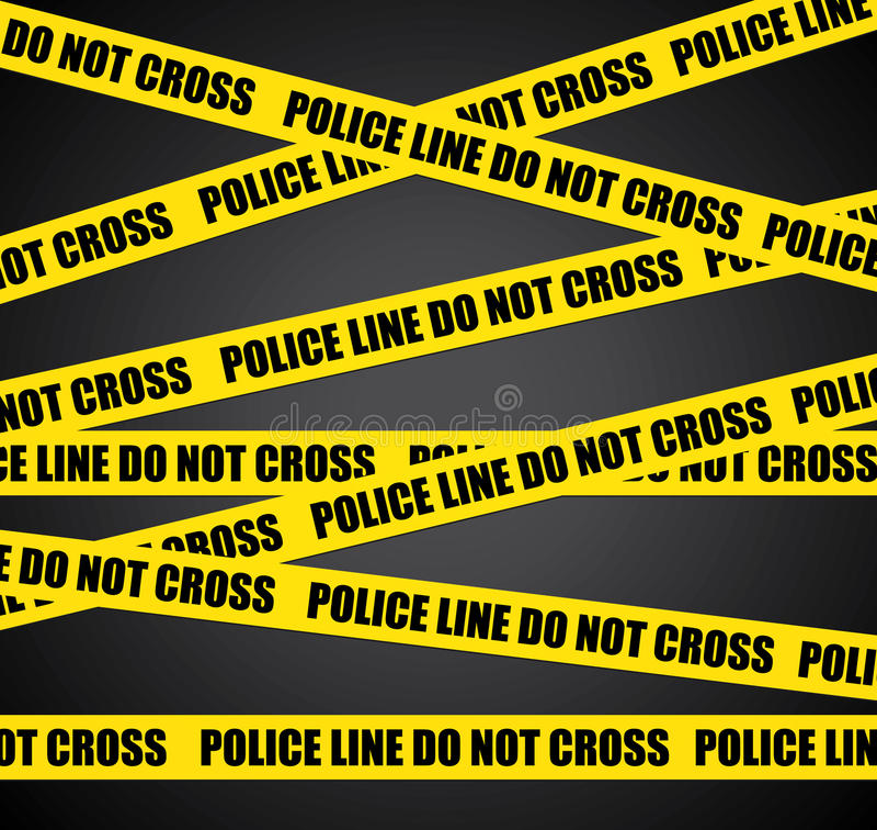 Scène du crime. illustration stock