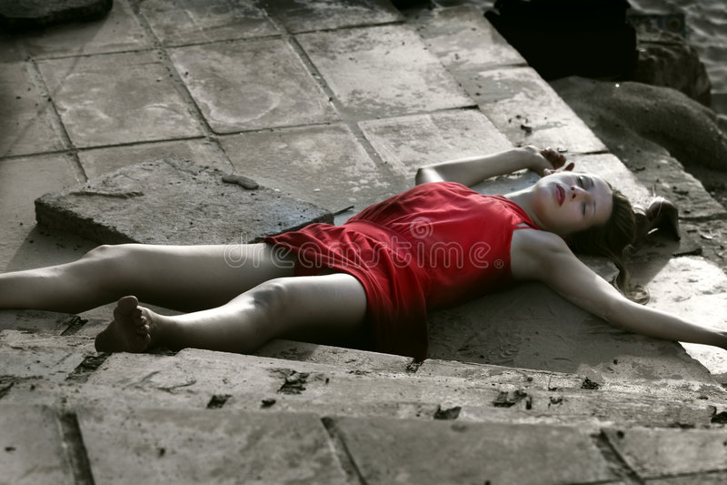 Scène du crime, femme morte photos stock