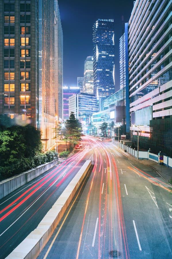 Scène du trafic urbain photographie stock