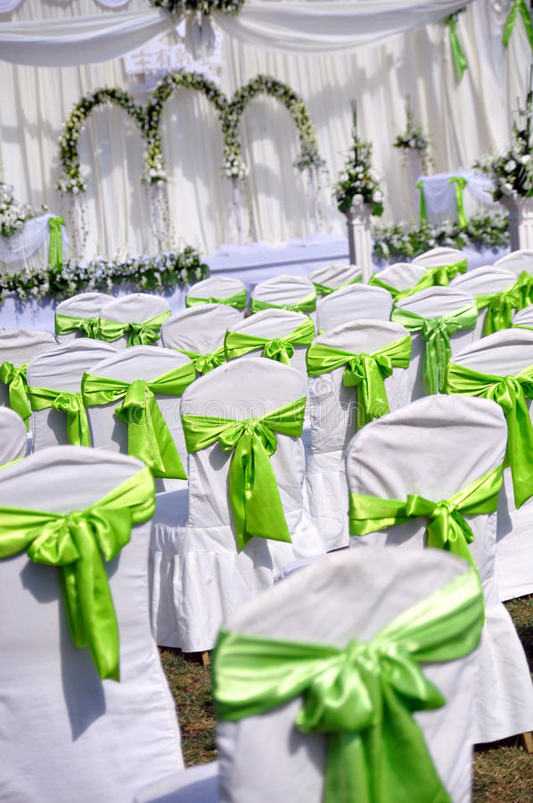 Scène extérieure de mariage photo stock