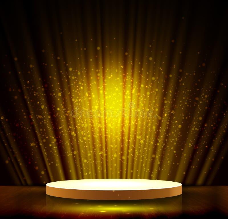Scène foncée d'or illustration libre de droits
