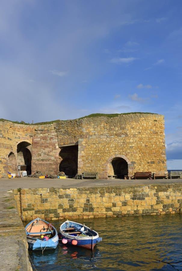 Scène historique de port de l'Angleterre est du nord images libres de droits