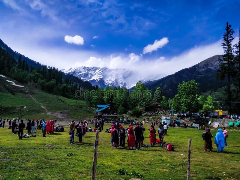 Scène iconique de satisfaction de la Kashmir Inde photos libres de droits