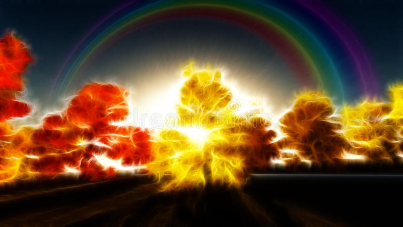 Scène impressionniste d'automne illustration libre de droits