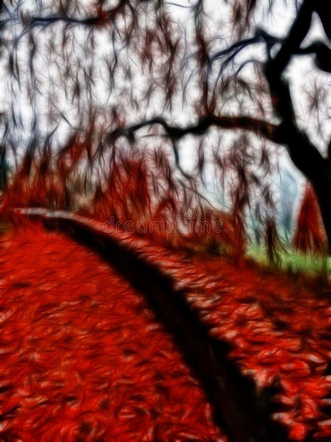 Scène impressionniste d'automne illustration stock