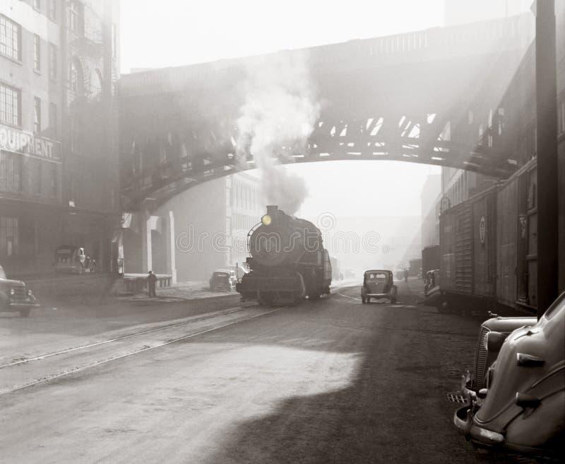 Scène industrielle d'âge photographie stock