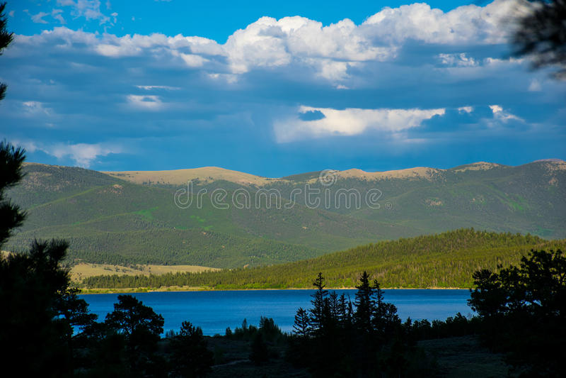 Scène jumelle de lac mountain de Sawatch le Colorado de lacs photos stock