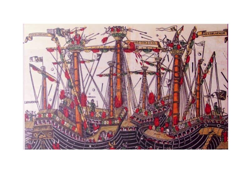 Scène médiévale du Grand Siège de Malte illustration de vecteur