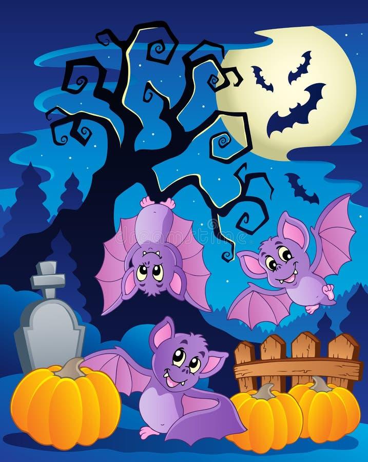 Scène met boom 5 van Halloween vector illustratie
