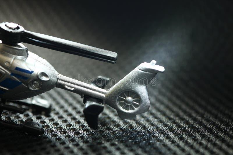 Scène modèle d'hélicoptère miniature photographie stock libre de droits