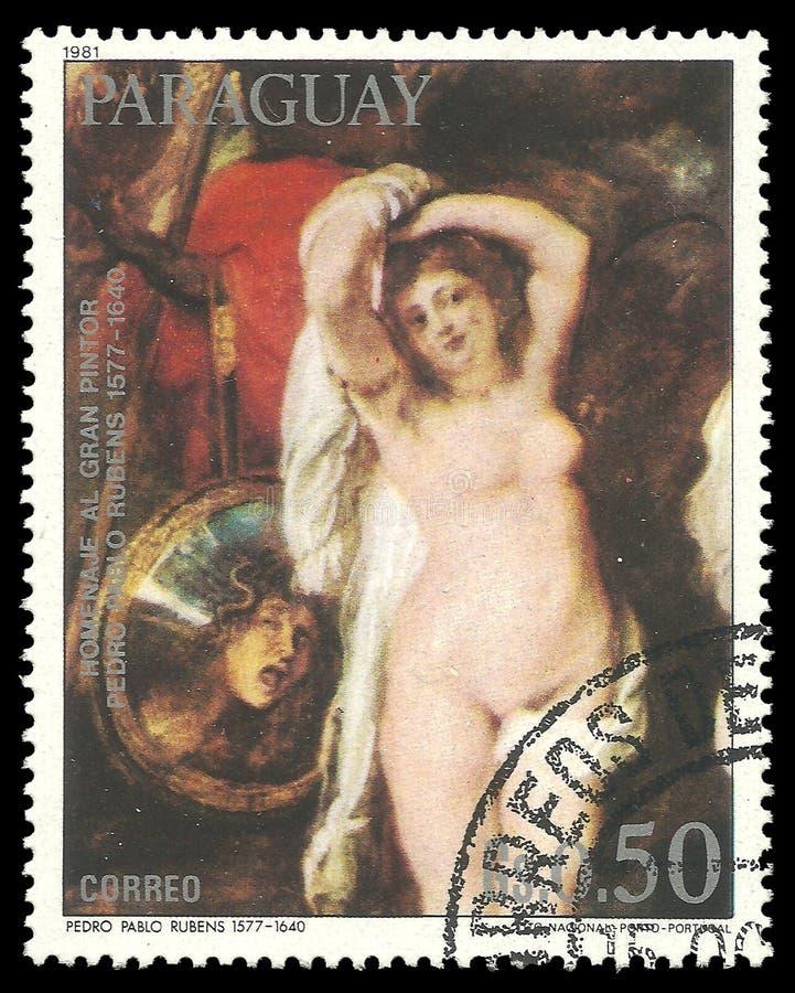Scène mythologique de peinture par Rubens illustration de vecteur