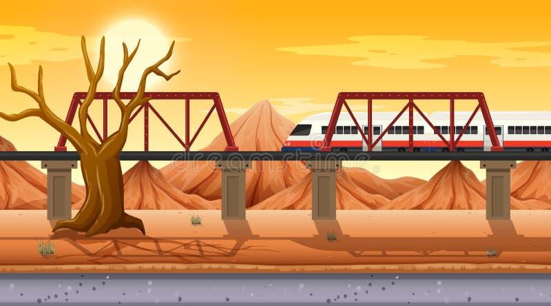Scène orientée de désert occidental en nature illustration libre de droits