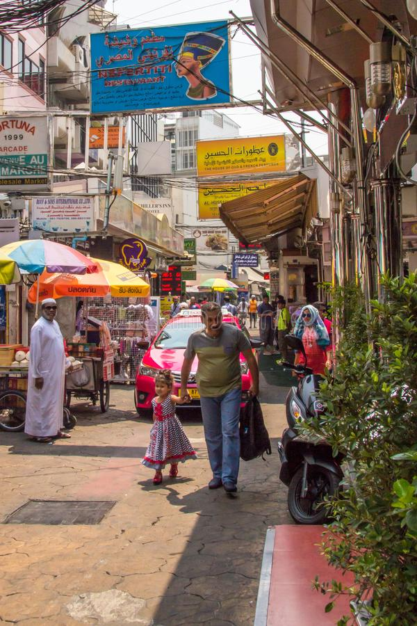 Scène petite Arabie de rue photographie stock