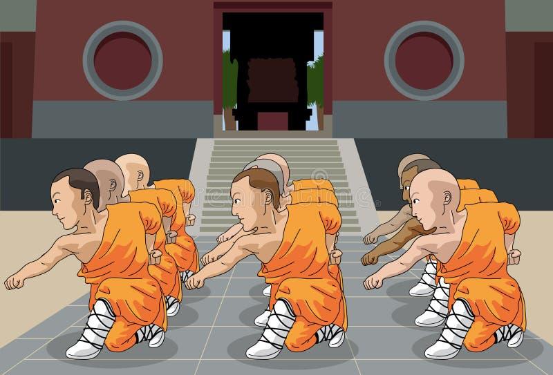Scène pt.1 de Kung Fu illustration stock