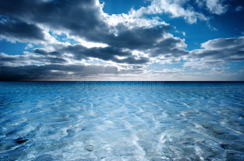 scène rêveuse de plage image stock