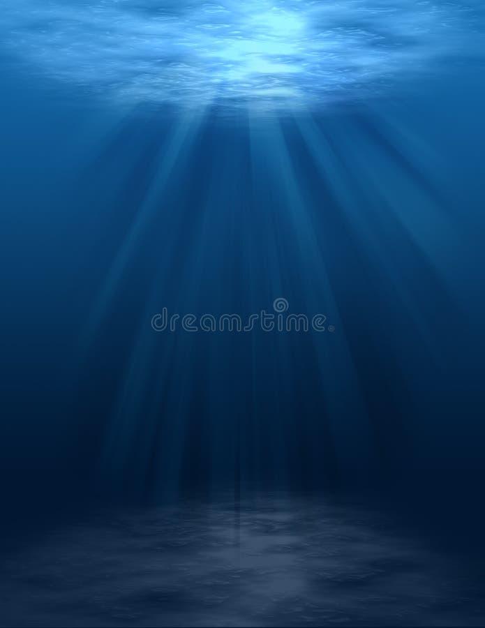 Scène sous-marine (blanc) illustration de vecteur