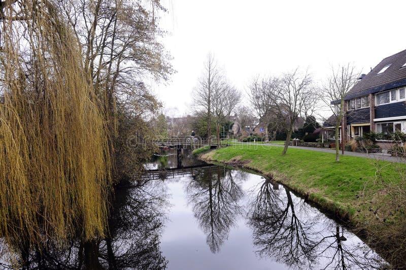Scène suburbaine néerlandaise images libres de droits
