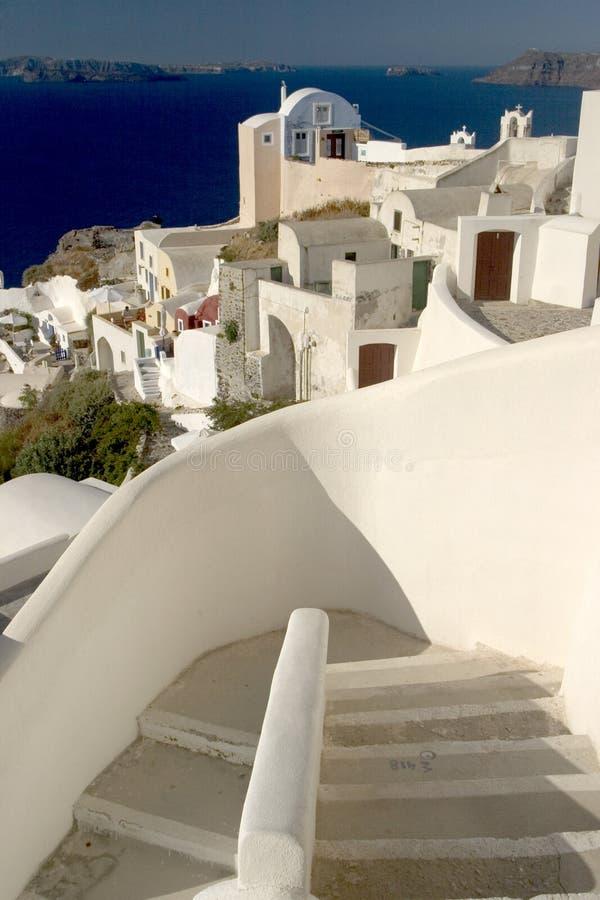 Scène type de l'île grecque de Santorini photo libre de droits
