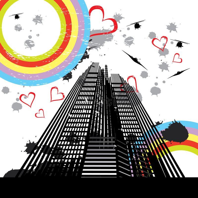 Scène urbaine 3 illustration stock