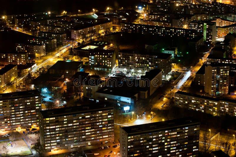 Scène urbaine de nuit photographie stock libre de droits