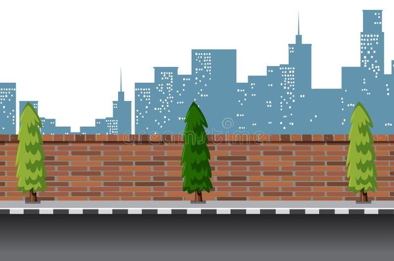 Scène urbaine de route de rue illustration libre de droits