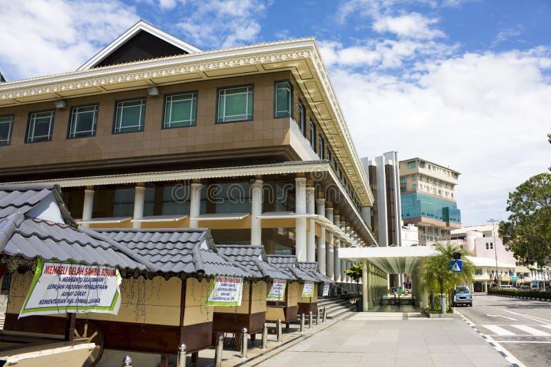 Scène van de Straat van Seri van Bandar Begawan, Brunei stock foto